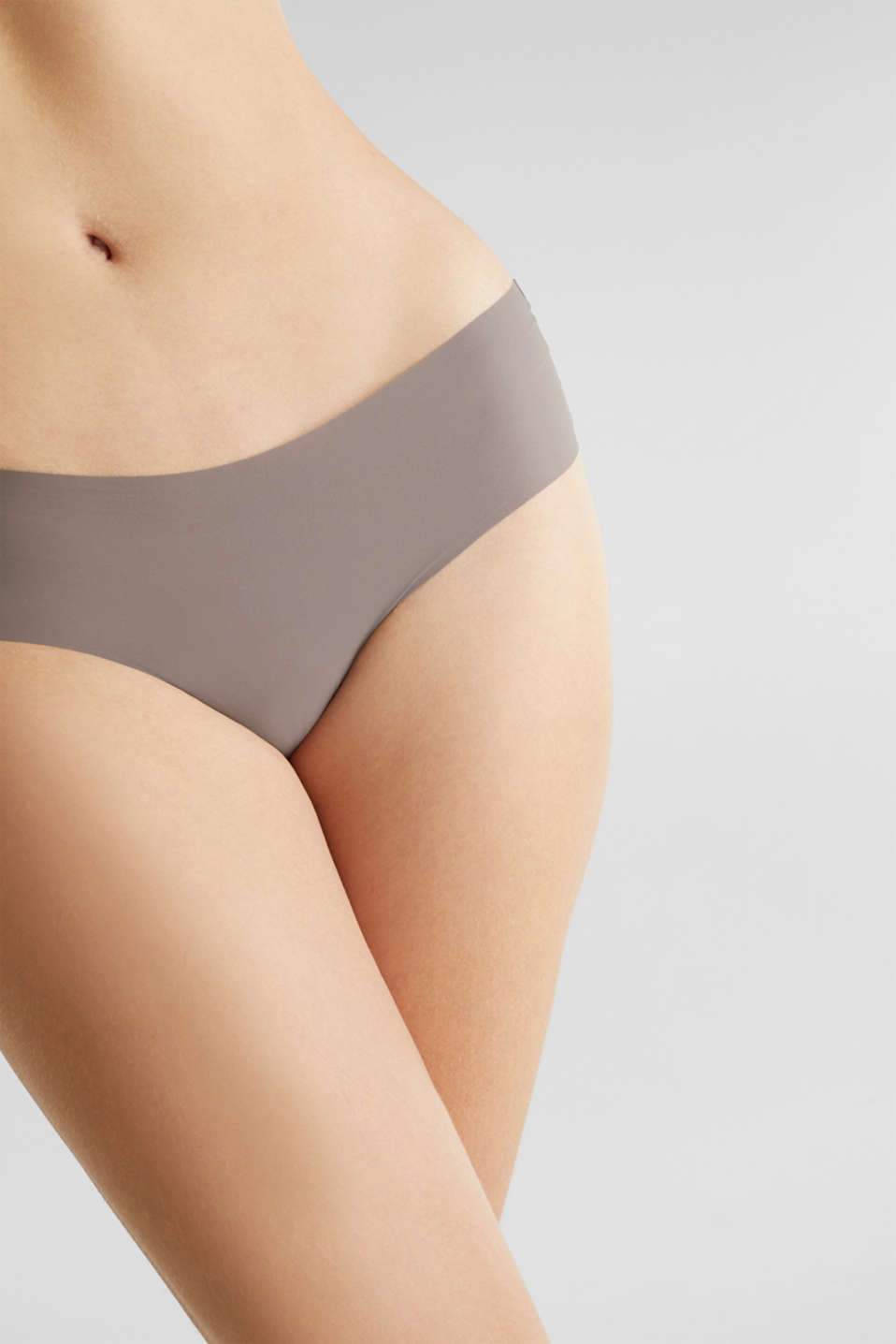 Double pack of seamless hipster shorts, TAUPE, detail image number 1