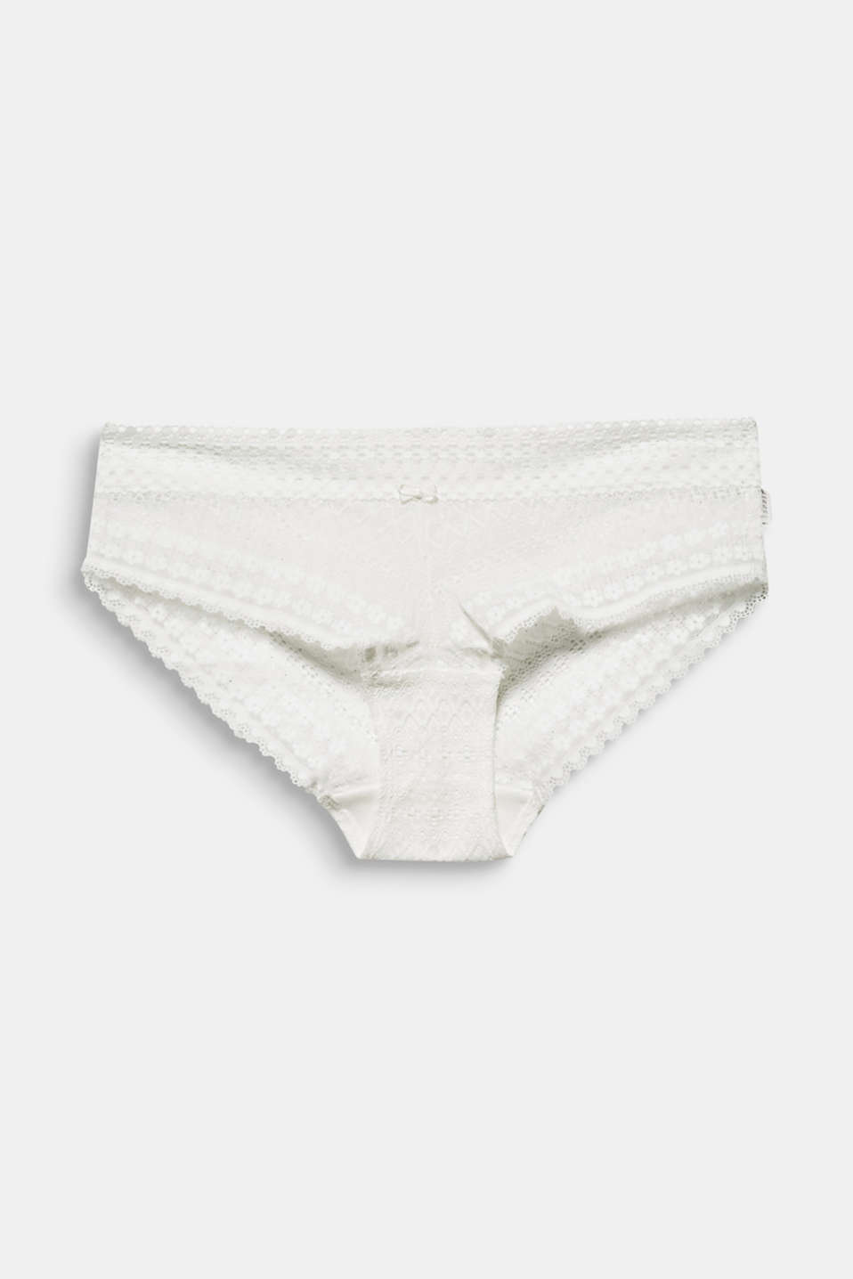 Hipster shorts made of lavish lace, OFF WHITE, detail image number 4