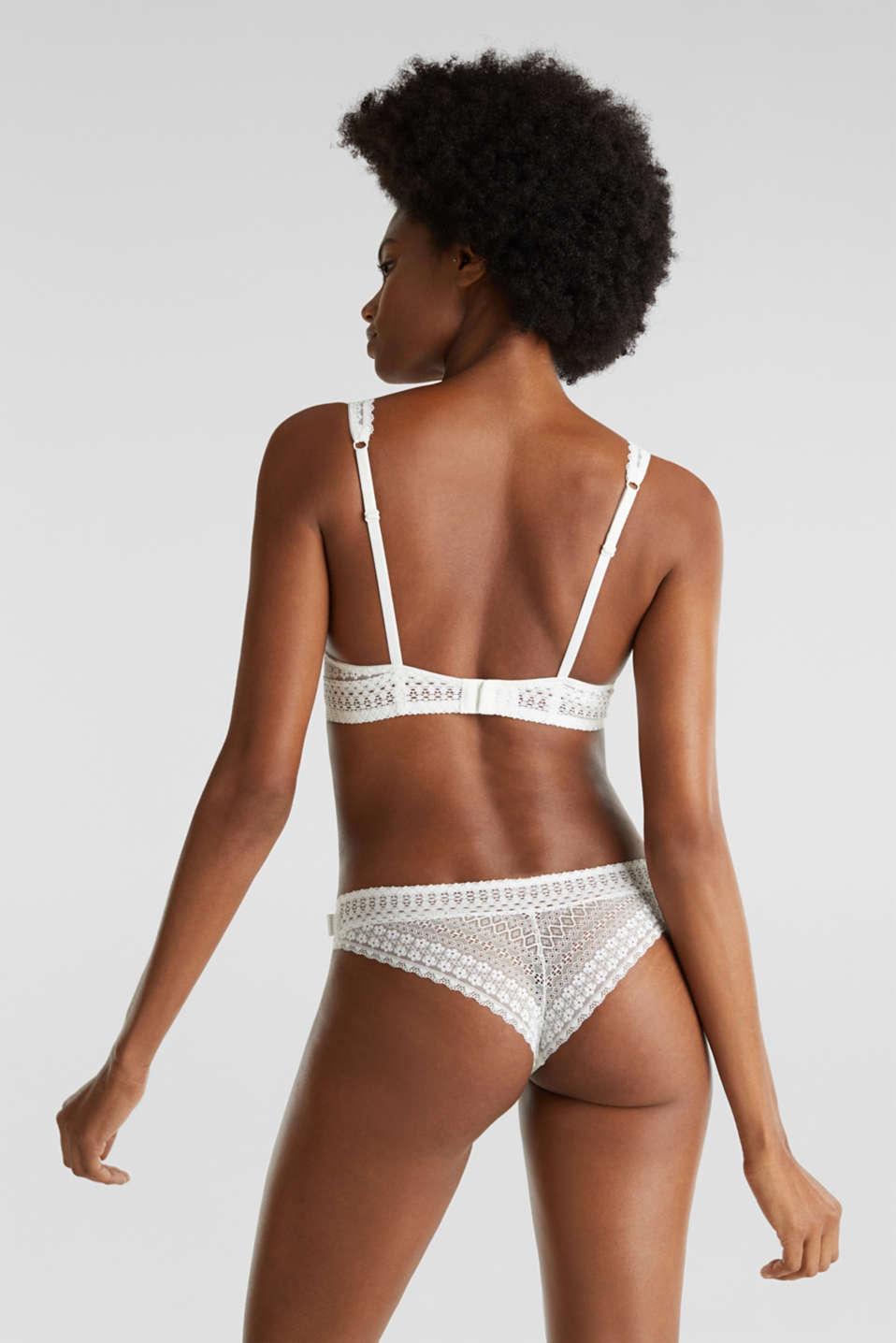 Underwire bra, OFF WHITE, detail image number 1