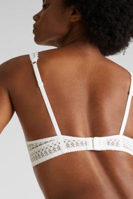 Underwire bra, OFF WHITE, detail