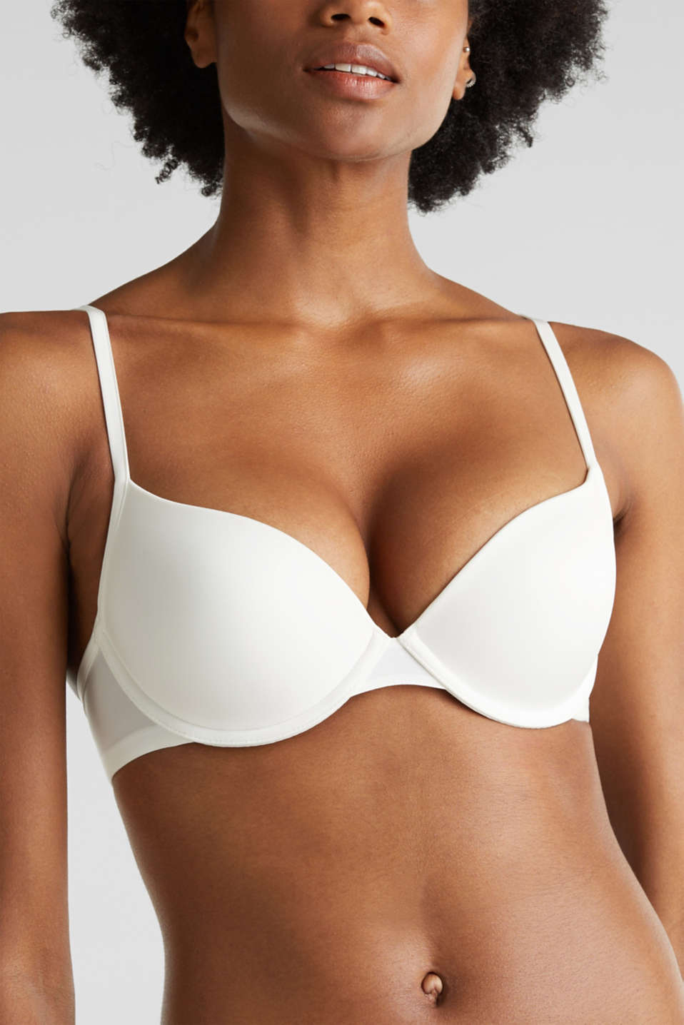 Push-up microfibre bra, OFF WHITE, detail image number 2