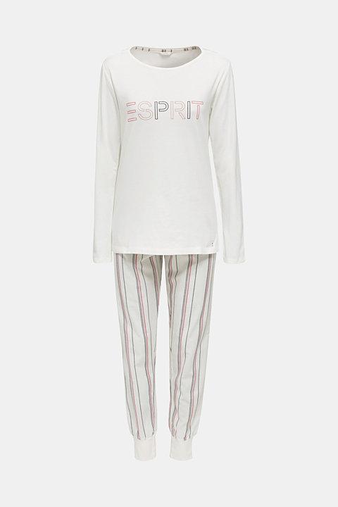 Jersey/fabric logo pyjamas, 100% cotton