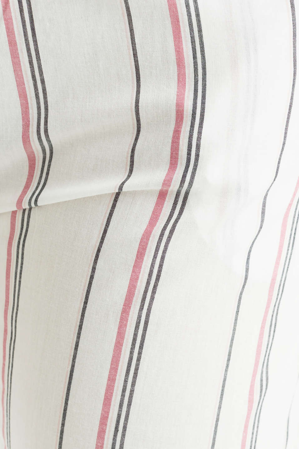 Striped woven pyjama bottoms, 100% cotton, OFF WHITE, detail image number 3