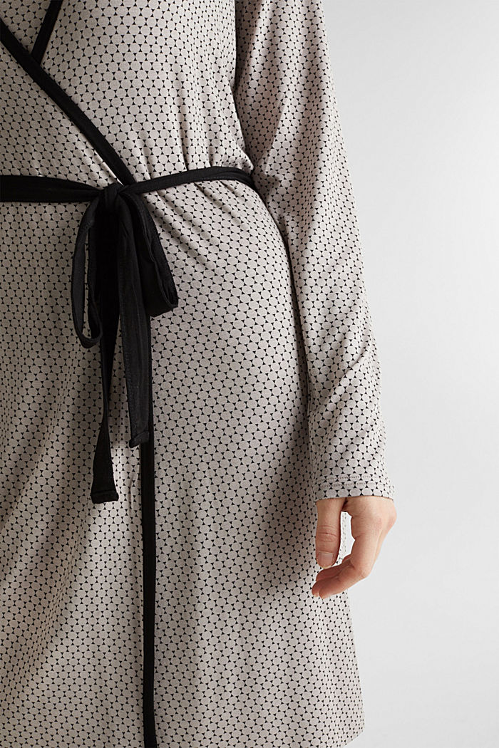 Stretch jersey kimono with a graphic print, LIGHT TAUPE, detail image number 2