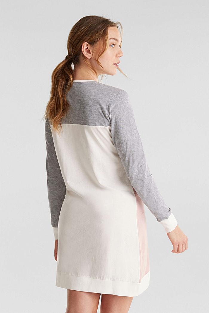 Jersey nightshirt made of blended cotton, OLD PINK, detail image number 1