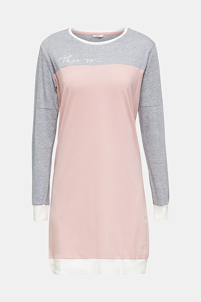 Jersey nightshirt made of blended cotton, OLD PINK, detail image number 4