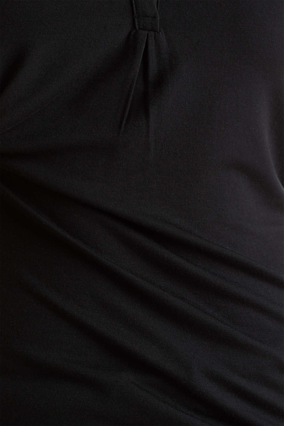 Jersey Henley with ribbed details, BLACK, detail image number 2