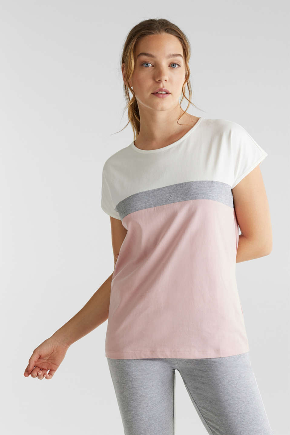 Esprit - Color-Block T-Shirt, 100% Baumwolle