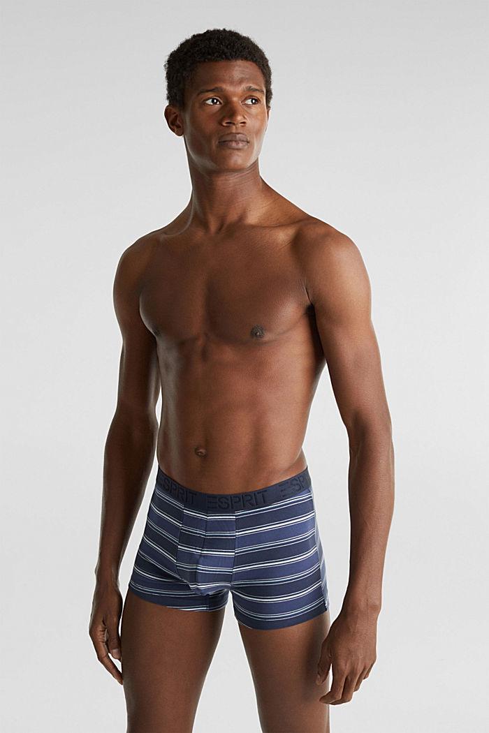 Im 3er-Pack: Shorts aus Baumwoll-Stretch, NAVY, detail image number 0
