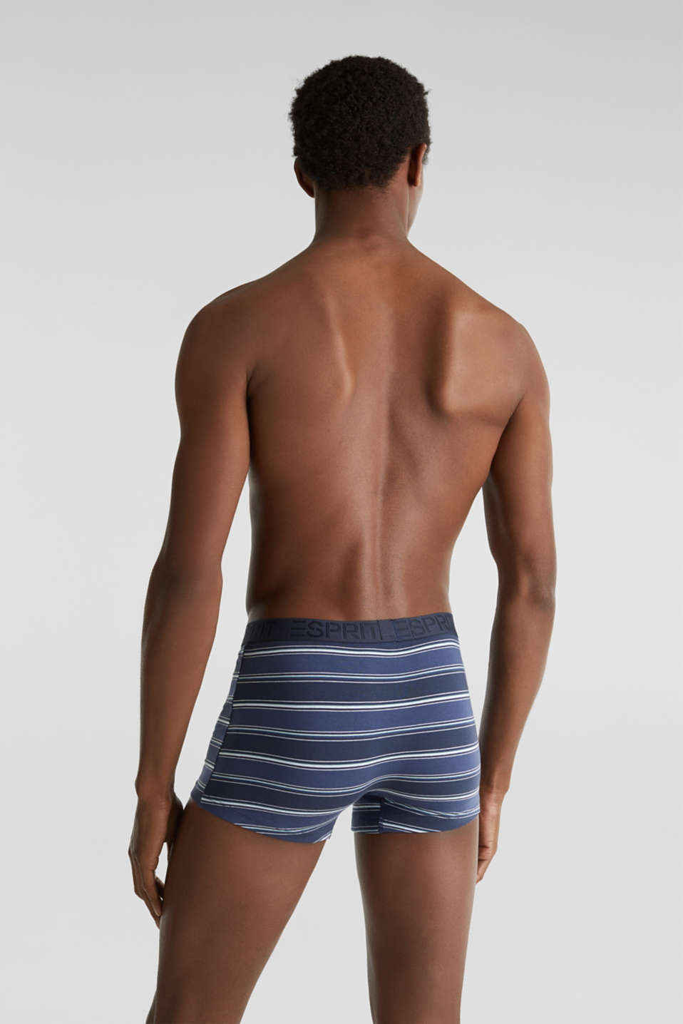 In a triple pack: stretch cotton shorts, NAVY 2, detail image number 1
