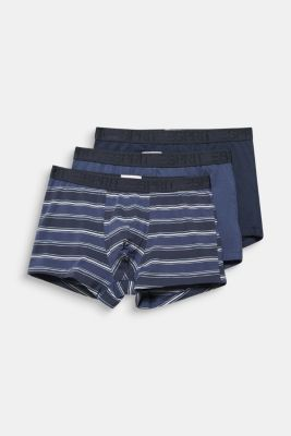 In a triple pack: stretch cotton shorts, NAVY 2, detail