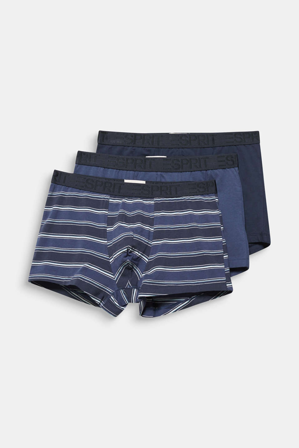 In a triple pack: stretch cotton shorts, NAVY 2, detail image number 3