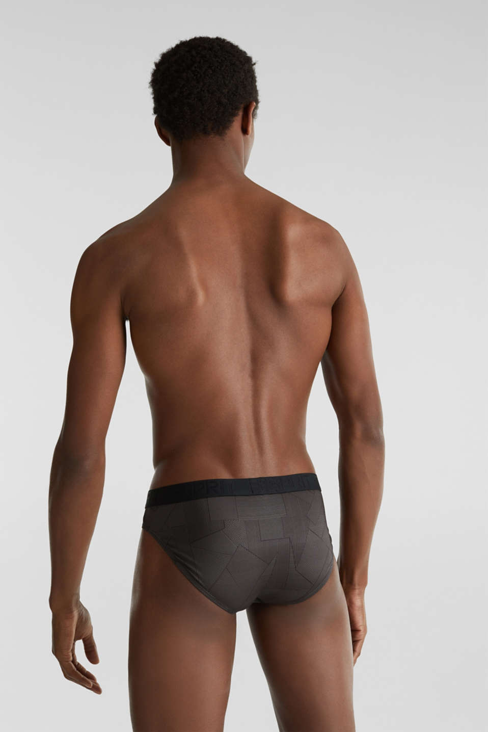 In a triple pack: microfibre briefs with a logo waistband, BLACK, detail image number 1