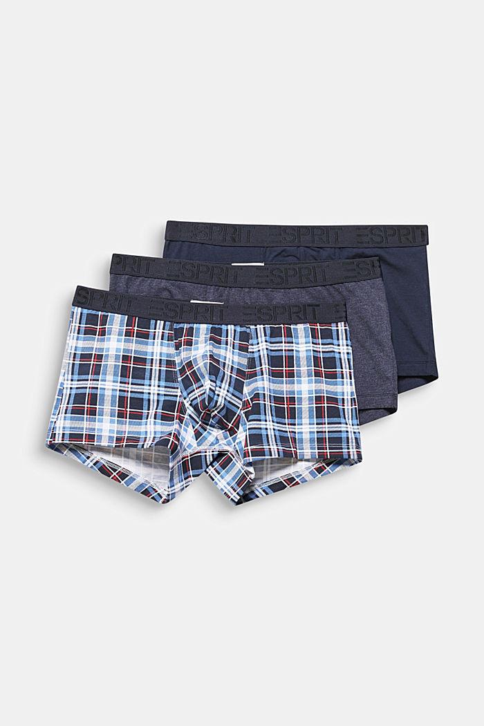 Set van 3: hipster-shorts met logoband, NAVY, detail image number 3