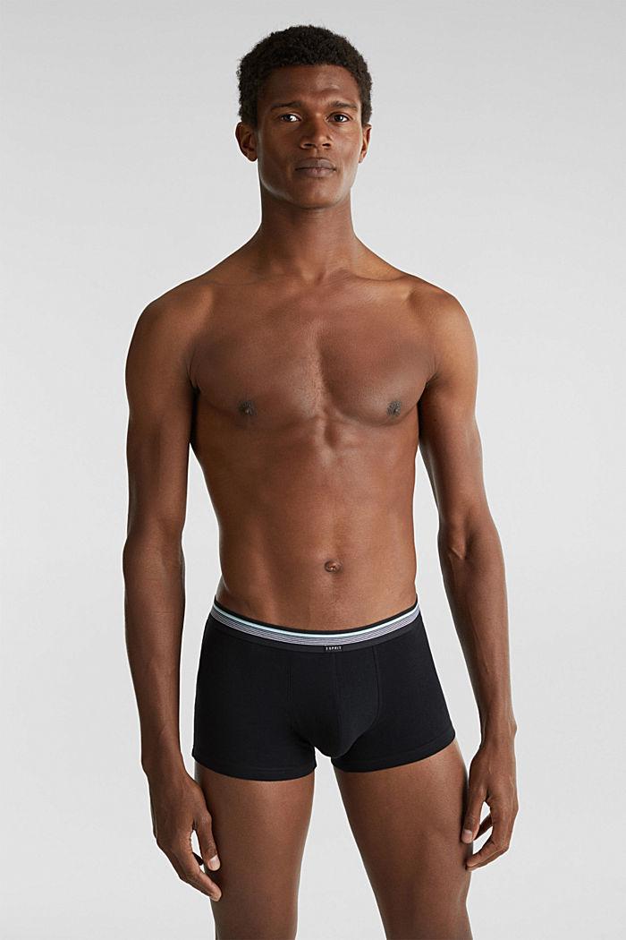 3er-Pack: Hipster-Shorts mit Streifen-Bund, BLACK, detail image number 0
