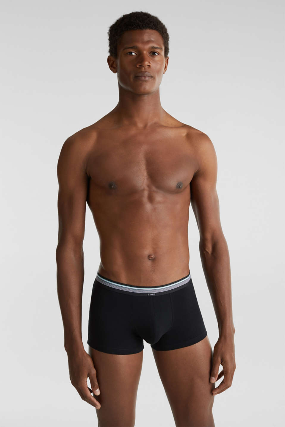 Triple pack: hipster shorts with a striped waistband, BLACK, detail image number 0