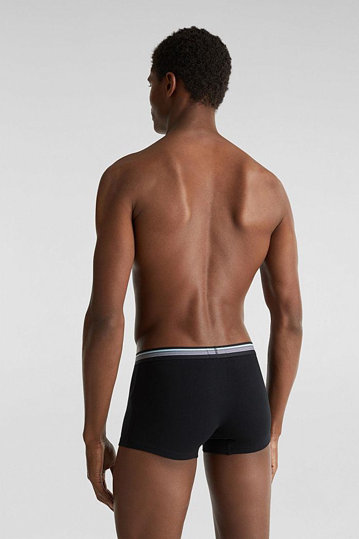 3er-Pack: Hipster-Shorts mit Streifen-Bund, BLACK, detail image number 1