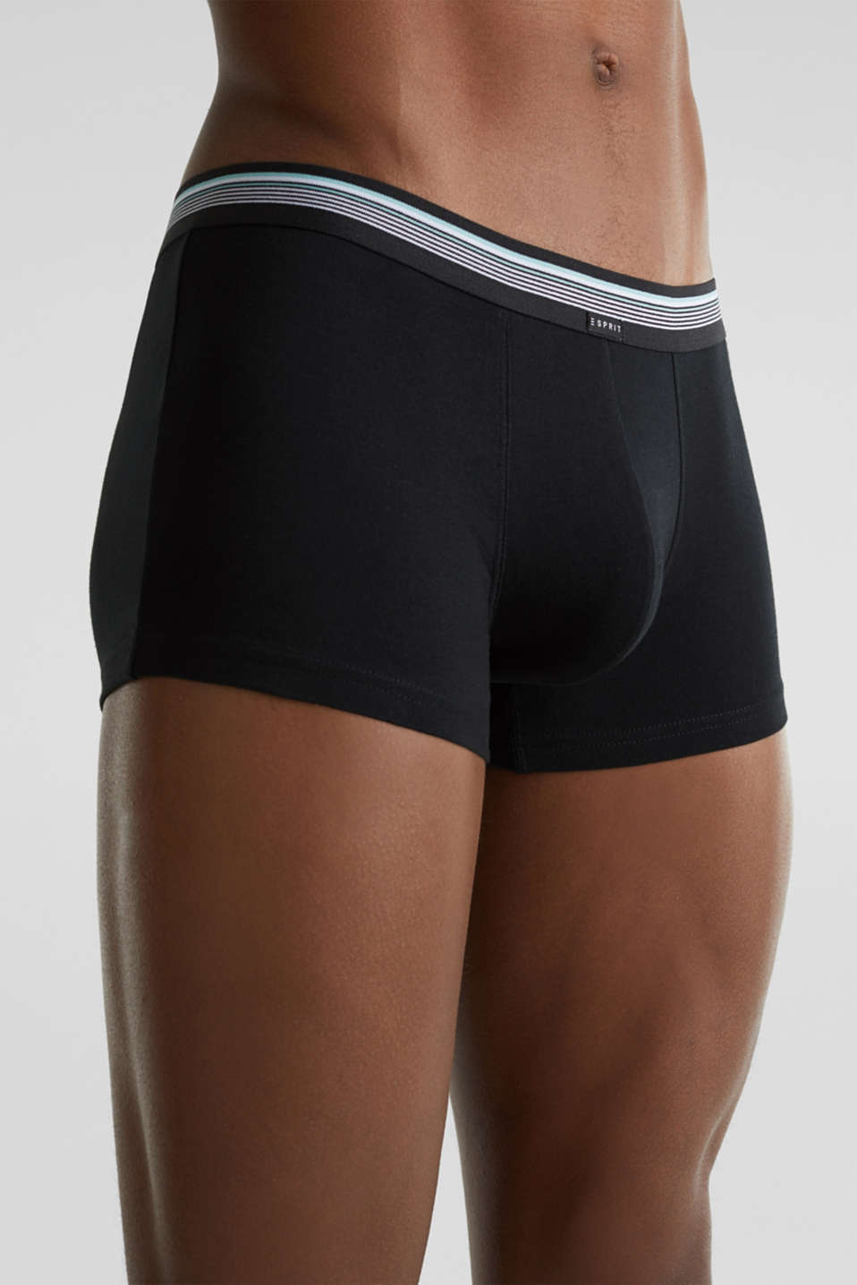 Triple pack: hipster shorts with a striped waistband, BLACK, detail image number 2