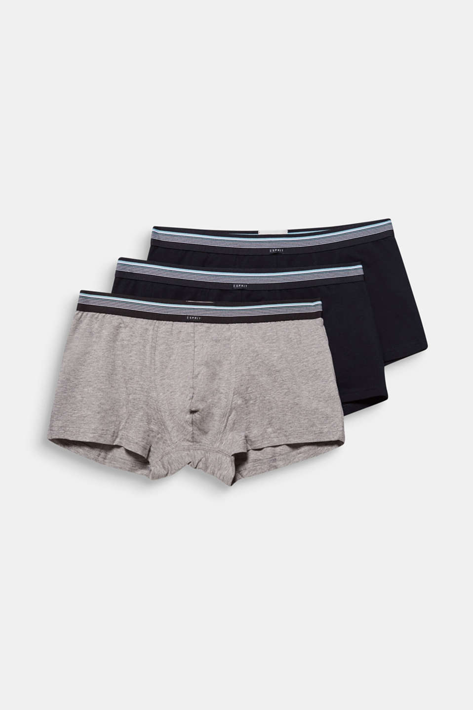 Triple pack: hipster shorts with a striped waistband, BLACK, detail image number 3