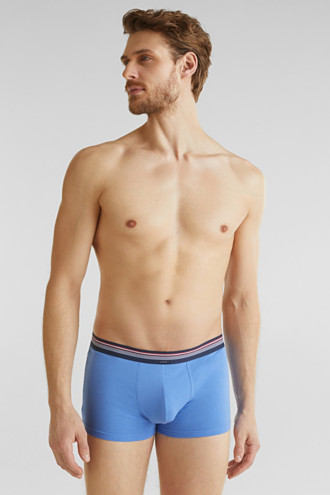 Triple pack: hipster shorts with a striped waistband