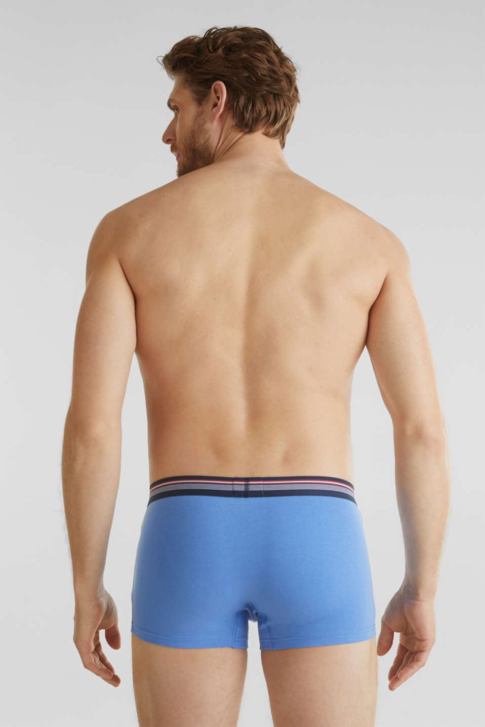Triple pack: hipster shorts with a striped waistband, RED, detail image number 1