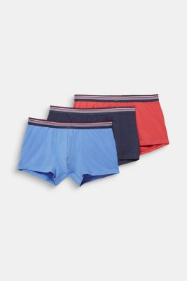 Triple pack: hipster shorts with a striped waistband, RED, detail