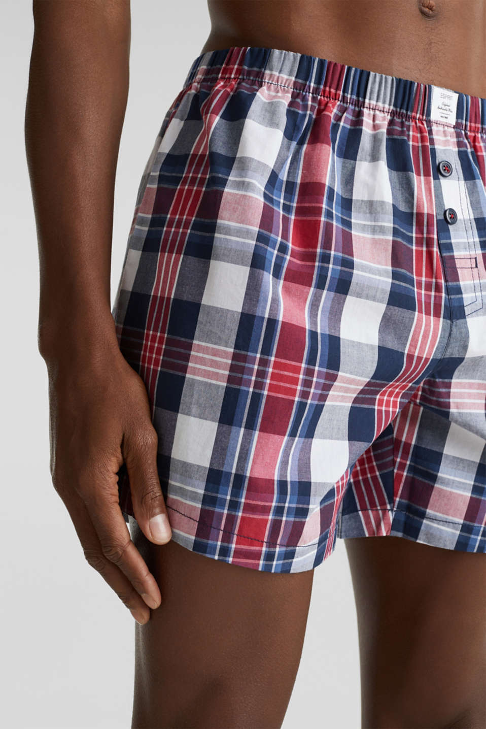 Double pack of boxer shorts, 100% cotton, NAVY 2, detail image number 2