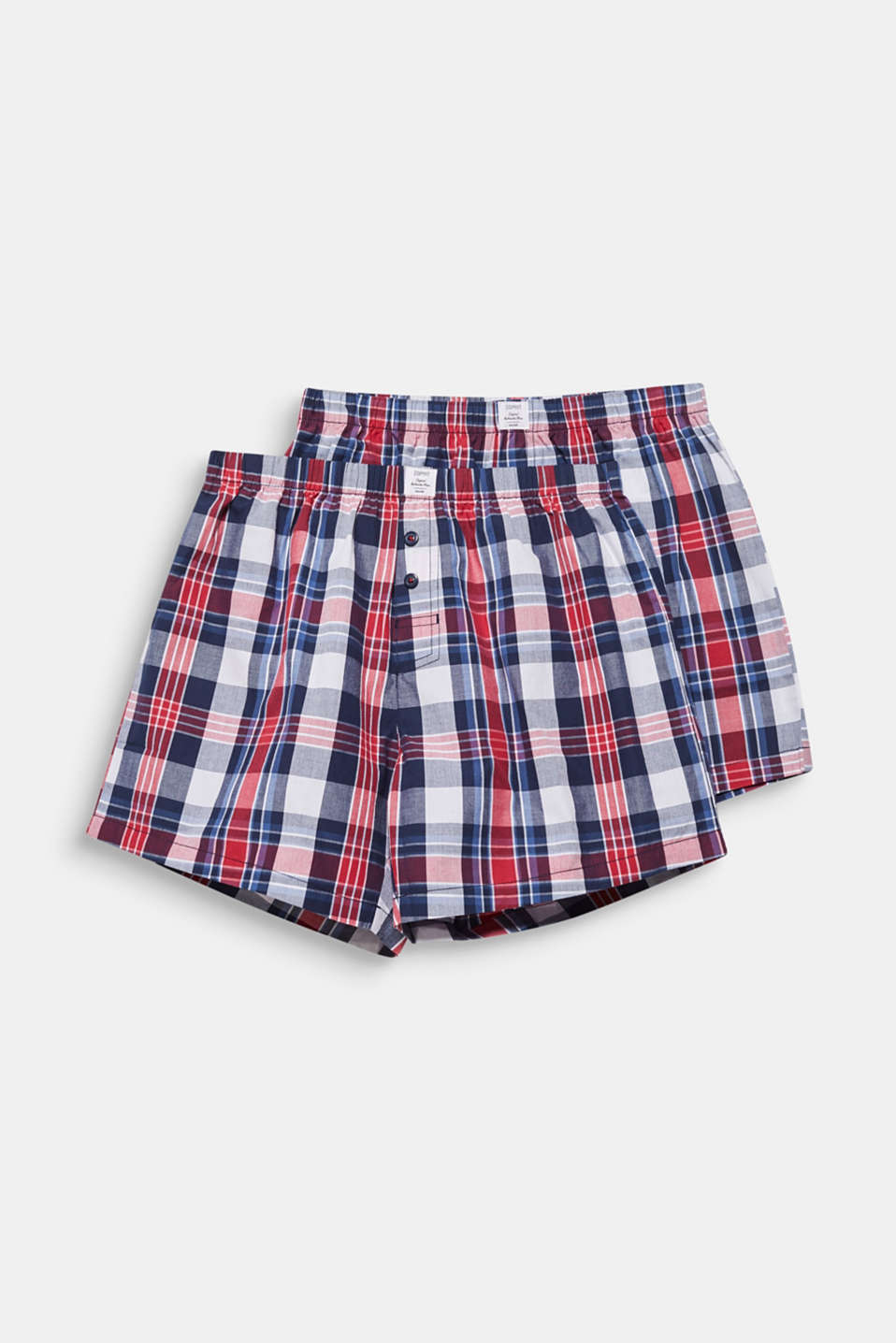 Double pack of boxer shorts, 100% cotton, NAVY 2, detail image number 3