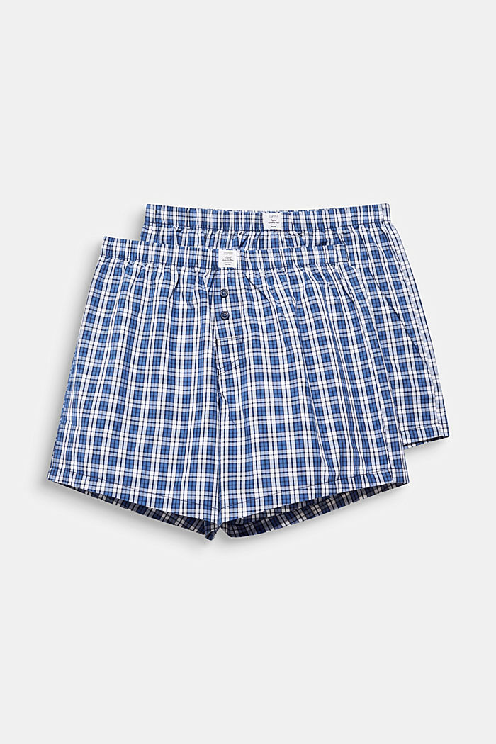In a pack of two: boxer shorts in 100% cotton, NAVY, detail image number 0