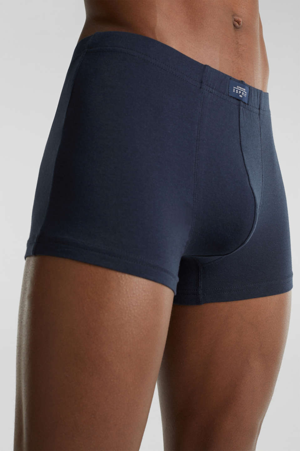 Stretch cotton shorts in a six-pack, BLACK, detail image number 2