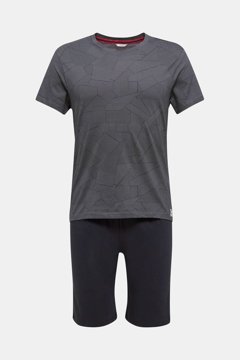 Pyjamas made of 100% cotton, BLACK, detail image number 3
