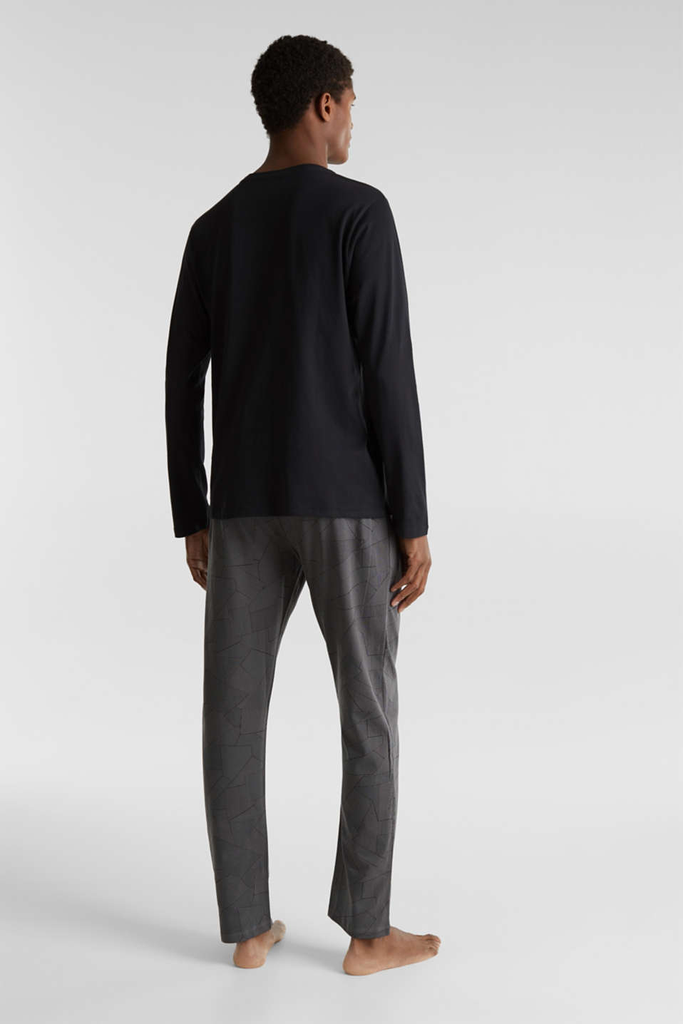 Pyjamas made of 100% cotton, BLACK, detail image number 1