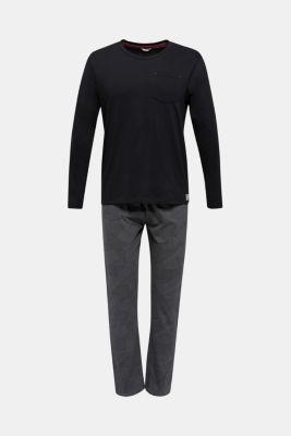Pyjamas made of 100% cotton, BLACK, detail