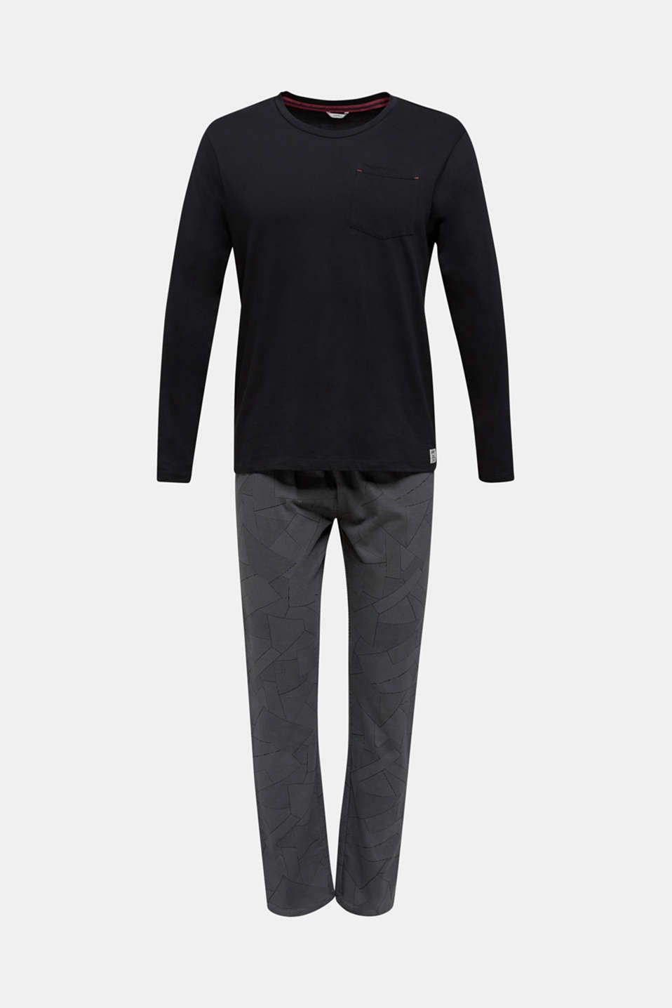Pyjamas made of 100% cotton, BLACK, detail image number 4