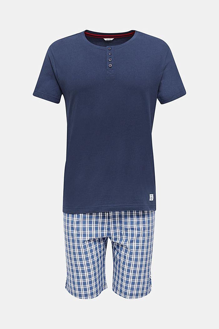 Pyjama van 100% katoen, NAVY, detail image number 0