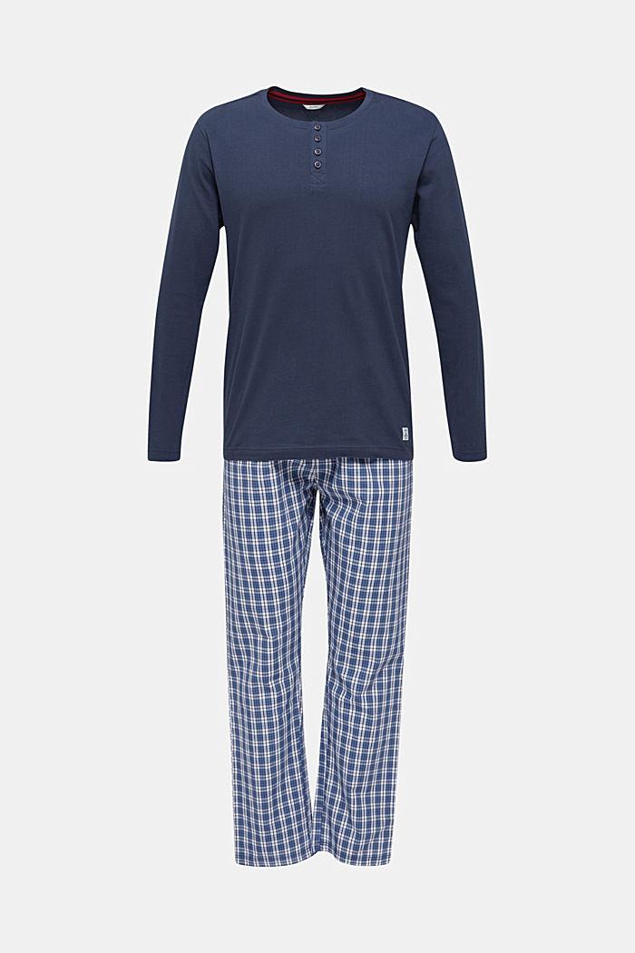 Pyjama 100 % puuvillaa, NAVY, detail image number 0