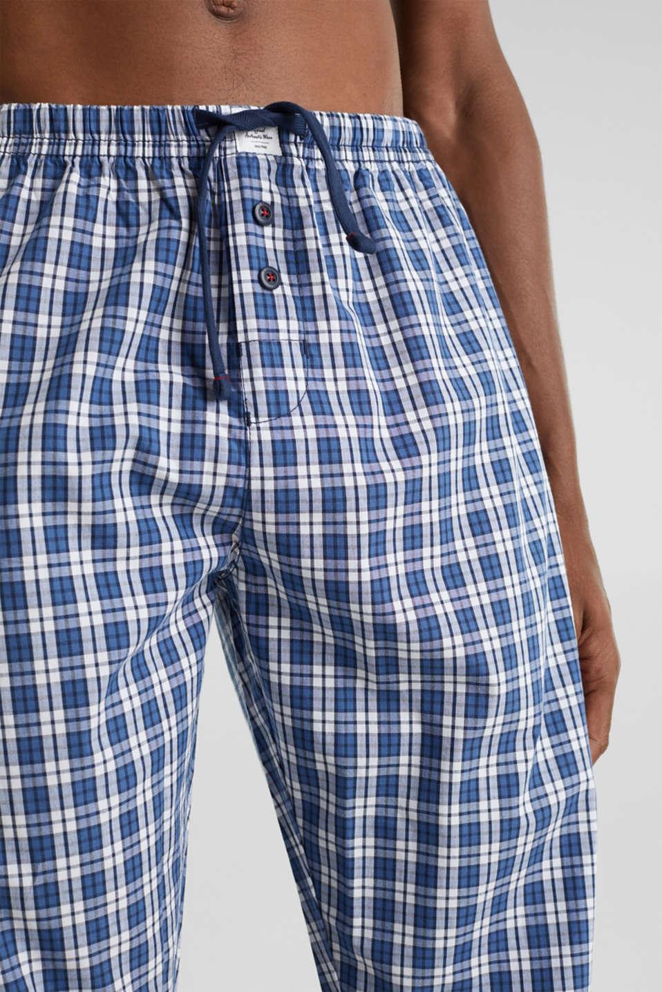 Pyjama bottoms made of 100% cotton, NAVY 2, detail image number 2