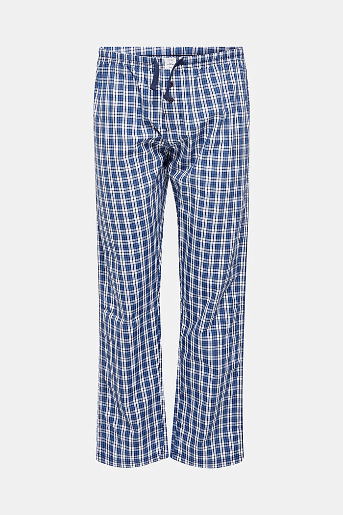 Pyjamabroek van 100% katoen, NAVY, detail image number 0