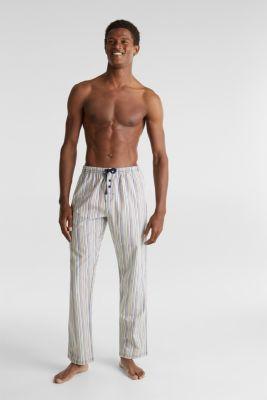 Pyjama bottoms made of 100% cotton, BRIGHT BLUE, detail