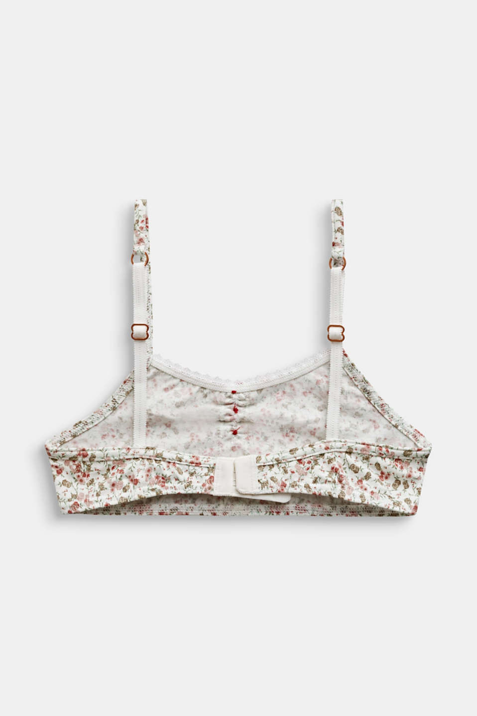 Bodice with a floral print and lace, OFF WHITE, detail image number 1