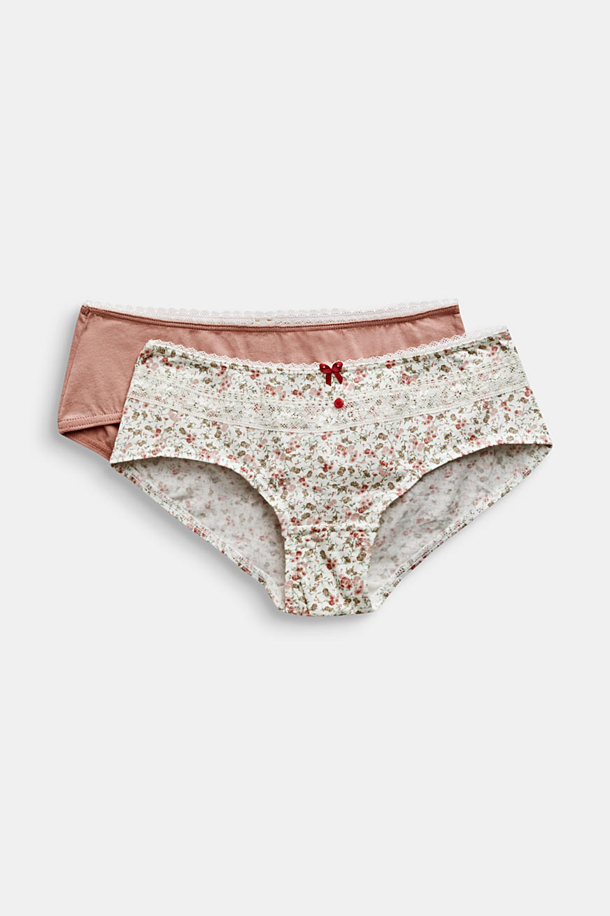 Lot de 2 shortys, unicolore ou à imprimé