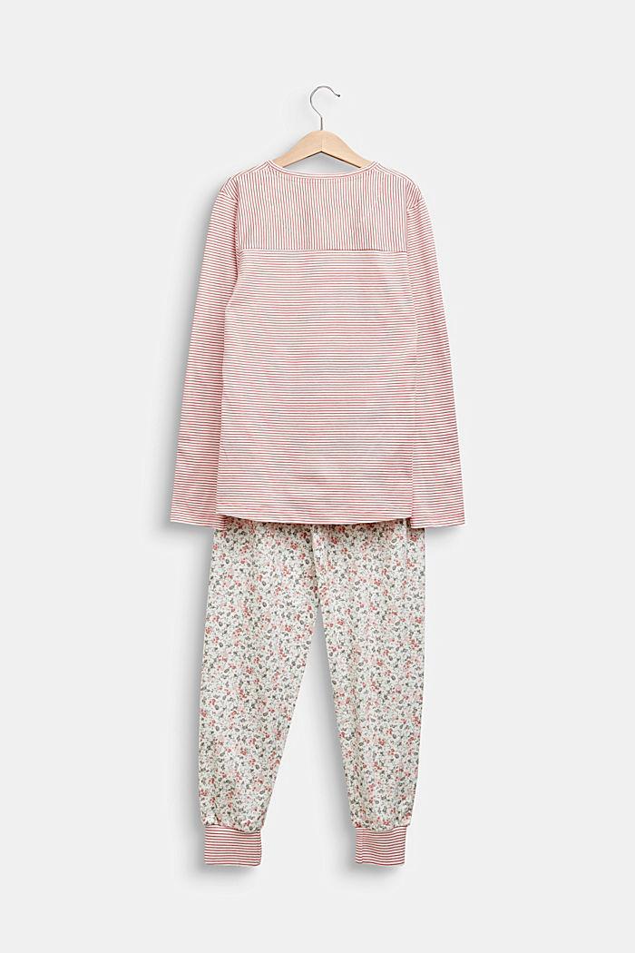 Pyjama-Set mit Muster-Mix, 100% Baumwolle, OFF WHITE, detail image number 1