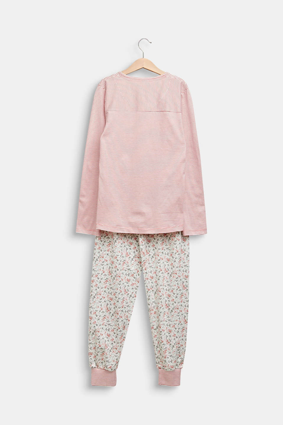 Pyjama set in a mix of patterns, 100% cotton, OFF WHITE, detail image number 1