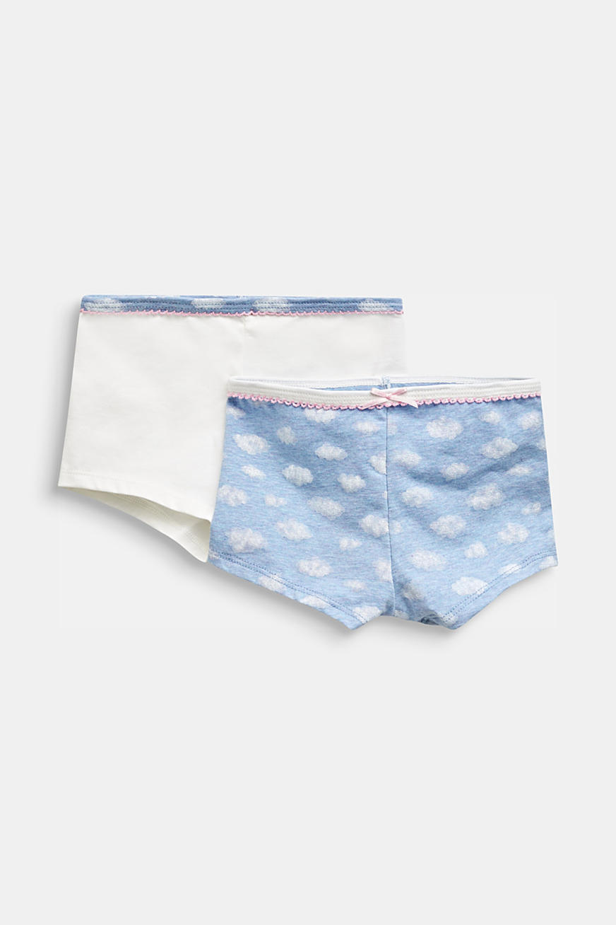 Double pack of shorts with a cloud print