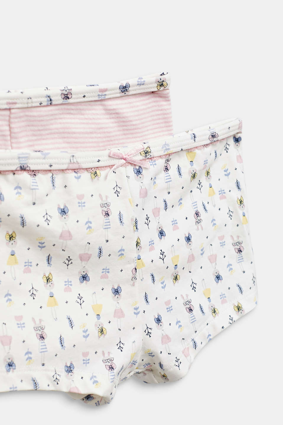 Double pack of shorts with a hare print, OFF WHITE, detail image number 1