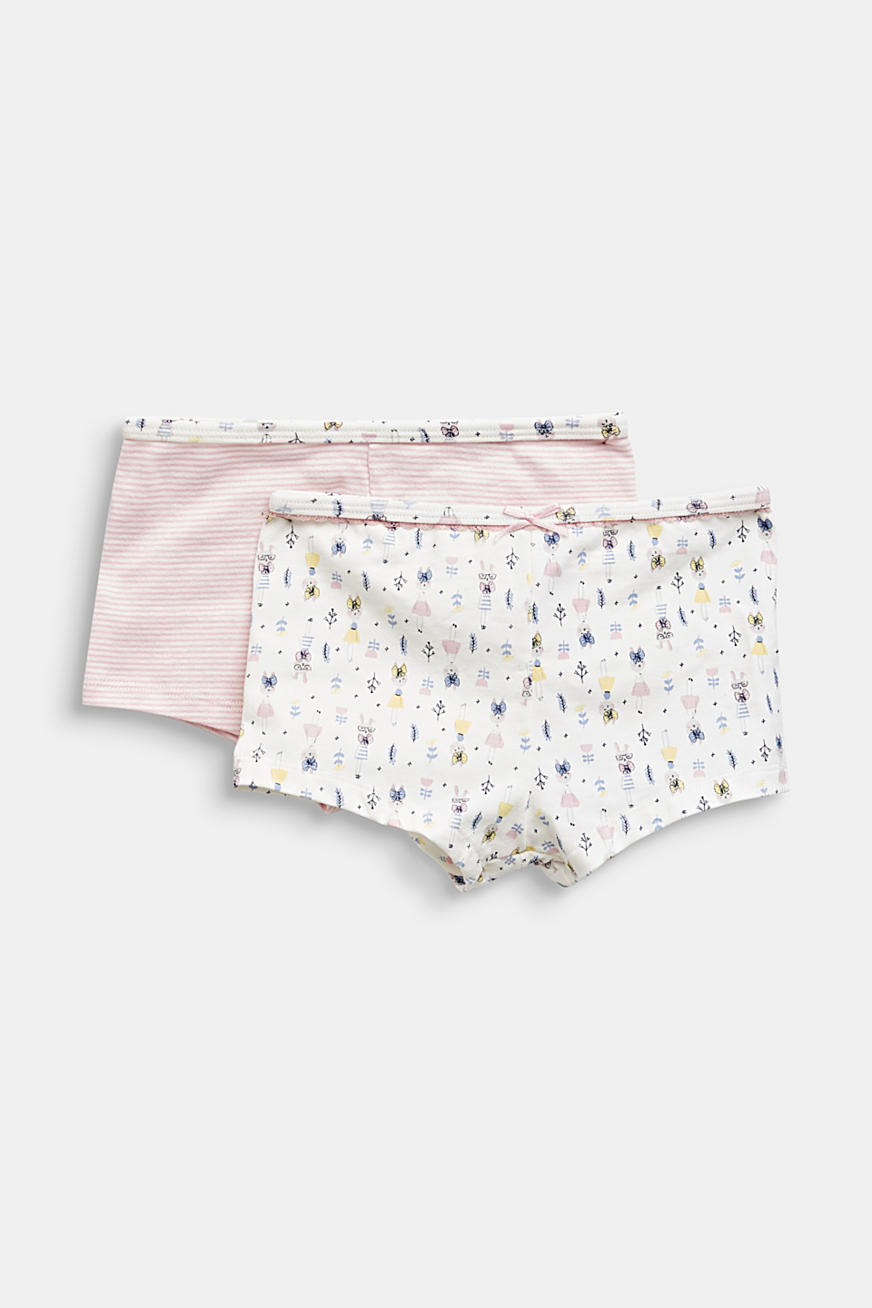 Double pack of shorts with a hare print
