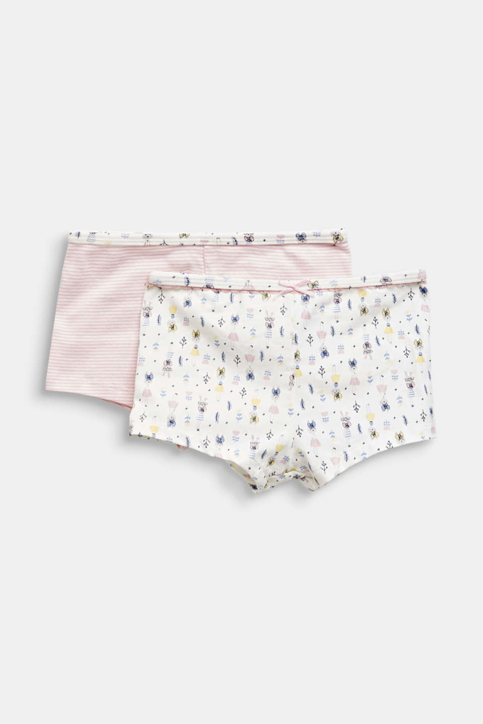 Double pack of shorts with a hare print, OFF WHITE, detail image number 0