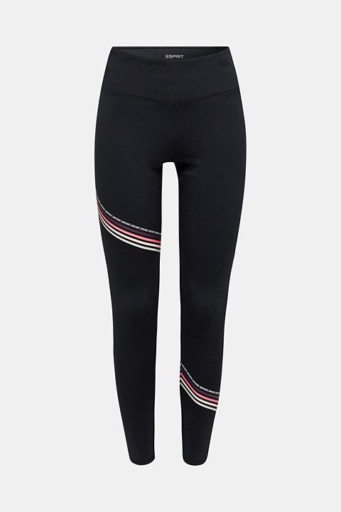 Compression leggings with stripes, E-DRY