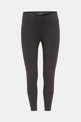 Active leggings with colour block stripes, E-DRY, ANTHRACITE 2, detail