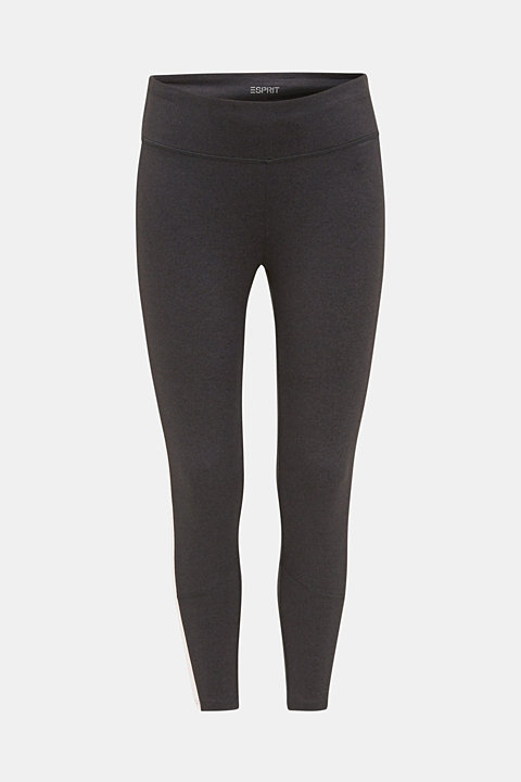 Active leggings with colour block stripes, E-DRY